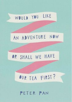 Peter Pan Quote Print Blue Pink Nursery Decor by violetandalfie
