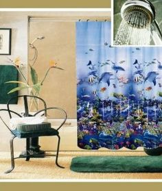 Shower curtains for decorations/backdrop! Amazon.com - Bathroom Shower Curtain Ocean Sea Life Whale HE104Wha -