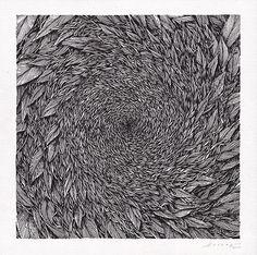 Tellas - Around you, 2016, ink on paper, 30x30 cm