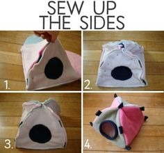 How to Sew a Small Animal Tent for a Rat, Guinea Pig, or Hamster whale species whale whales rats animals bucks Guinea Pig House, Pet Guinea Pigs, Guinea Pig Care, Diy Guinea Pig Toys, Diy Rat Toys, Guinea Pig Costumes, Hamster Bedding, Guinea Pig Bedding, Hedgehog Bedding