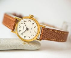 Mint condition women's watch Dawn gold plated lady by SovietEra