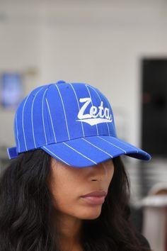 ZETA PHI BETA SORORITY BLACK BASEBALL HAT CAP ZETA PHI BETA FLUFFY BALL HAT