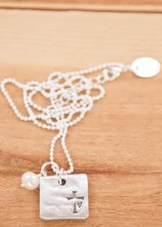 First Communion gift ideas: Lisa Leonard stamped cross necklace faith hope love