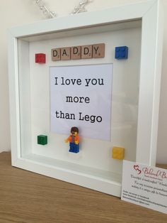 Lego scrabble frame Father's Day by MyBelovedBoutique on Etsy
