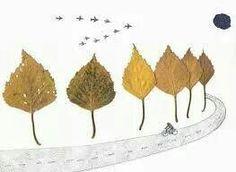 Tekening met bladeren