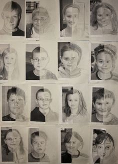 Excellent exercise for building confidence and general portrait practice (Example is that of children in 6th grade)