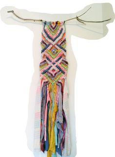 The coolest super-sized Friendship Bracelet Wall Hanging by Anna Klausmann.