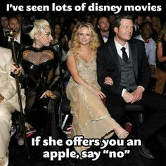"I've seen lots of Disney movies- if she offers you an apple, say ""no""!"