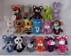 What fun rattles! Crochet Baby Toys, Crochet Amigurumi, Crochet Gifts, Cute Crochet, Crochet For Kids, Amigurumi Doll, Amigurumi Patterns, Crochet Animals, Crochet Dolls