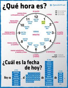 Speaking Latino — Telling Time in Spanish Infographics
