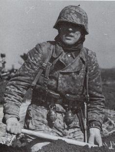 Reitzenstein (SS Pz regt 2) is shown wearing a tailor made Oakleaf in the spring of 1943