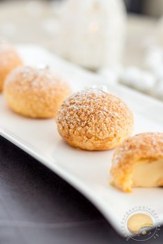 Les Chouchoux de la maîtresse (craquelin et crème légère au caramel de beurre salé) - Sucre d'Orge et Pain d'Epices