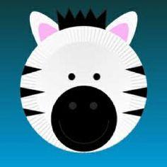 """Zebra craft kindergarten theme (good when studying letter """"Z"""")"""
