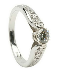 Stunning White Gold Ladies Ring From Our Collection Of Irish Engagement Rings Made In Ireland