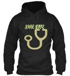Save Life Black Sweatshirt Front