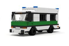 Custom LEGO MOC German Prison Police Bus http://www.custombricksets.com/product/old-german-prison-bus/