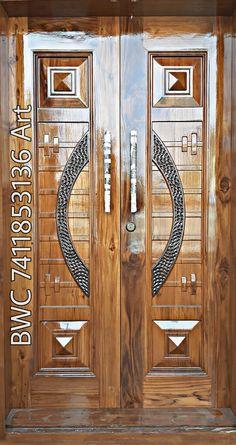 Wooden Main Door Design, Double Door Design, Teak Wood, Double Doors, Wooden Doors, Front Doors, Modern Design, Interior, Furniture