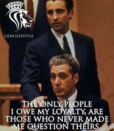 Andy in The Godfather Strong Quotes, Wise Quotes, Quotable Quotes, Movie Quotes, Success Quotes, Positive Quotes, Inspirational Quotes, Scarface Quotes, Godfather Quotes