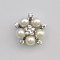 pearl and crystal cluster decoration