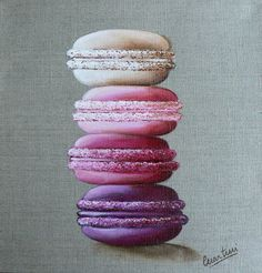 http://www.catherinemartini.fr/boutique Tableau macaron de Catherine Martini Painting with macaroon
