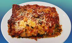 Healthy gluten free lasagna: broccoli, zucchini, squash, celery, carrot, etc. less cheese, 1 layer of GF lasagna noodles