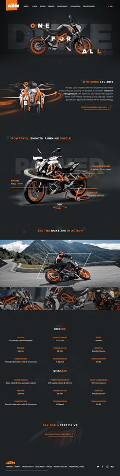 Duke 390 KTM Product Page Concept on Behance