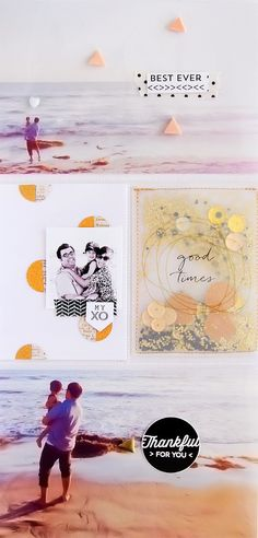 Scrapbook inspiration: stitching/pocket on the page. Lots to like about this.
