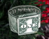 Money Origami Dollar Ring Oragami. I have one that I treasure very much as it was made by my dad for me before he passed away!