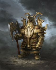 Enano guerrero, de Sven Bybee dwarf