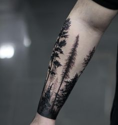 "341 To se mi líbí, 24 komentářů – Niko.Vaa (@niko.vaa) na Instagramu: ""Section from today - Thanks John #treetattoo #forest #foresttattoo #trees #pines #pinetattoo…"""