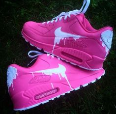 this pink Nike Air Max 90 Candy Drip Cherry Pink White Trainer is loved by my sister . nike air max 90 candy drip, nike air max 90 mens & womens trainer and shoe for cheap sale uk, the order you selected will save up to off. Best Nike Running Shoes, Nike Air Shoes, Moda Nike, Sneakers Fashion, Shoes Sneakers, White Sneakers, Tenis Nike Air, Cheap Nike Air Max, Fresh Shoes