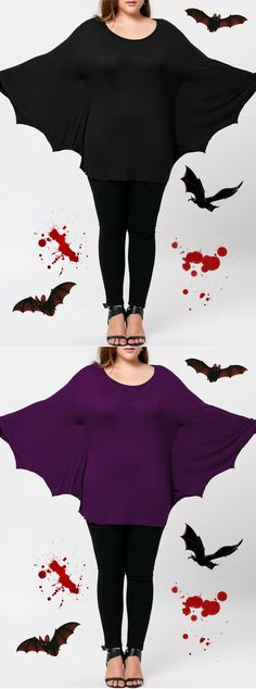 Up to 60% OFF! Plus Size Halloween Batwing T-shirt. Zaful, zaful shop, zaful tops,plus size,plus size fashion,plus size outfit,plus size tops, plus size blouses,plus size t shirts,fashion,fall fashion,fall fashion, winter outfits, winter fashion, t shirt,blouses,blouses for women,blouses outfit,casual blouse,chic,chic blouse,choker necklace outfit,choker,choker outfit,choker top,choker top outfit, halloween costumes,halloween,halloween outfits,halloween tops. @zaful Extra 10% OFF Code:ZF2017