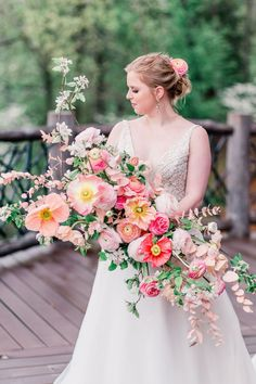 Pink Peony Garden Wedding Bouquet in Texas | Bespoken Day Photography