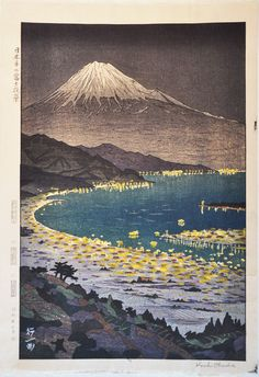 Fuji from Nihondaira  Koichi Okada  1954, published by Unsodo  10 x 15 in.