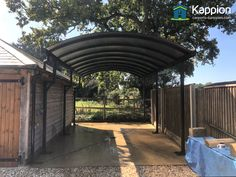 Motorhome Canopy installed in Hampshire Carport Canopy, Pergola, Canopies, Garages, Tile Design, Hampshire, Motorhome, Rv, New Homes