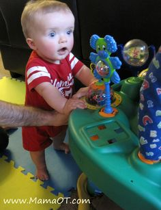Interesting read, exersaucers the good, the bad and the better. These toys are delaying baby's development by being used to often. some daycare's are now going with all non restrictive  toys and its proving it self beneficial with an overall younger walking age.