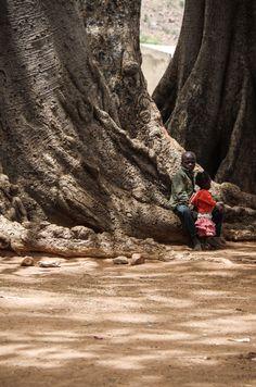 Enfants à Tiébélé. Burkina Faso.
