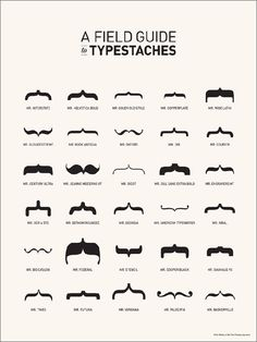 Typestaches! From the craftzine blog.