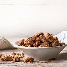The egg white helps the spice mixture adhere evenly and gives the pecans a crisp, glossy coating.