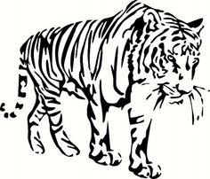Walking Tiger by BigDDesign on Etsy
