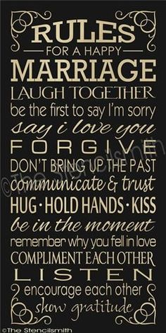 RULES FOR A HAPPY MARRIAGE | Darling Stuff