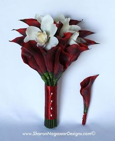 This makes me wish that I chose red for our colors! How beautiful and simple! #Calla Lilly