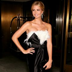 Ivanka Trump, I love how she doesn't just sit back and reap the benefits of her father's fortune. She's creating her own.
