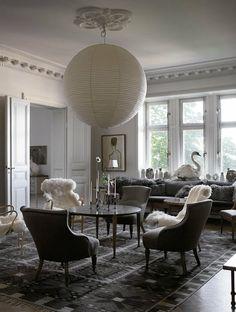 Fashion illustrator Mats Gustafson Stockholm Apartment; refined and elegant.