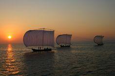 帆引き船@霞ヶ浦