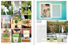 Weddings Illustrated garden ceremony and reception feature  #luminairefoto