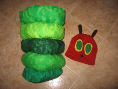 Hungry Caterpillar costume for my baby daughter                                                                                                                                                                                 More