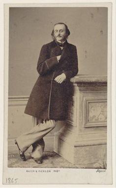 Jacques Offenbach [born Jakob Eberst] (1819-1880), photograph (1865), by Louis Frédéric Mayer (1822-1913) and Pierre Pierson (1822-1913).