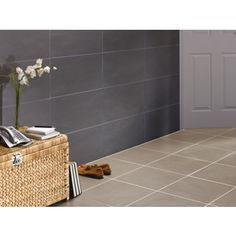 Luna Wall and Floor Tiles - Black - 300 x 600mm - 5 Pack at Homebase -- Be inspired and make your house a home. Buy now.