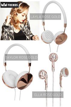 Ashley In DC: Friday Favorites: Frends Rose Gold Headphones_.